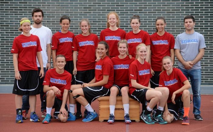 Basketball, Jugendsport, U17, Turnier am Samstag (12.09.2015). Eisvögel U17  Mannschaftsfoto